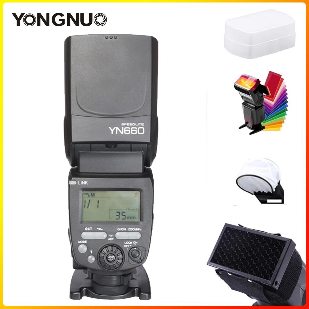 Беспроводная вспышка YONGNUO YN660 Speedlite GN66 2,4G, беспроводная радиостанция Master Slave для Canon Nikon Pentax Olympus YONGNUO YN 660