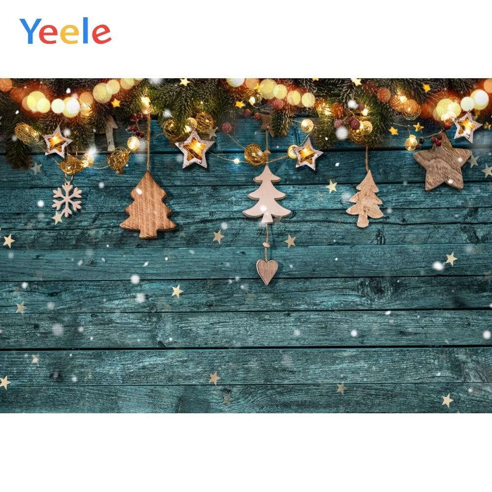 Деревянный Рождественский фон Yeele для фотосъемки Зимний снег снеговик подарок новорожденный портрет фото фон для фотосъемки