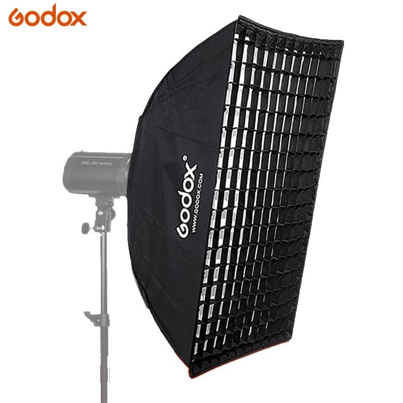 """Godox FW60 * 60 сотовый софтбокс с решеткой с креплением Bowens для студии стробоскоп вспышка светильник 24 """"x 35"""" 60x60 см или 60x90 см мягкая коробка"""