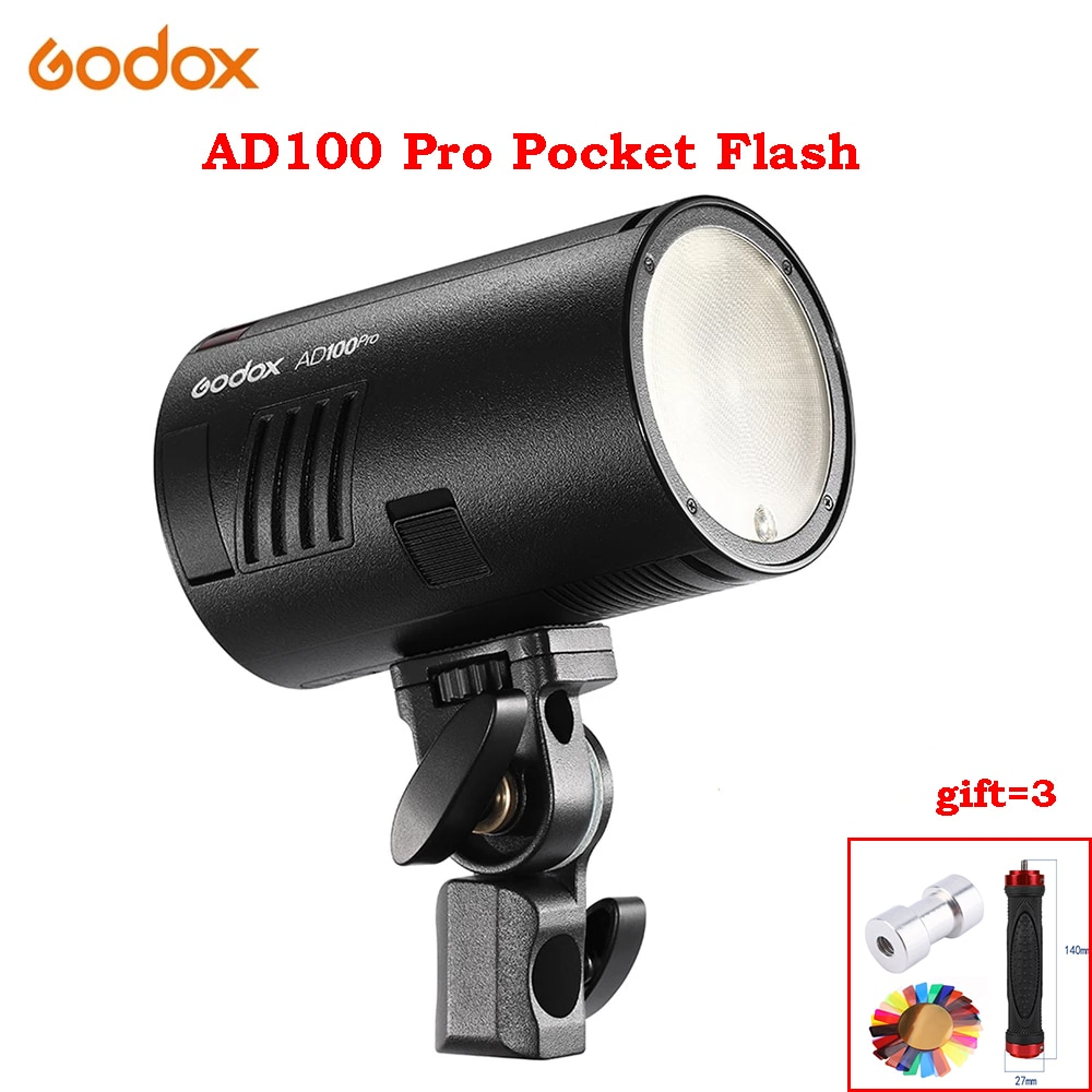 Карманная вспышка Godox AD100 pro для fuji nikon Canon Sony 2,4G Беспроводная вспышка 100Ws TTL 2600 мАч портативная уличная