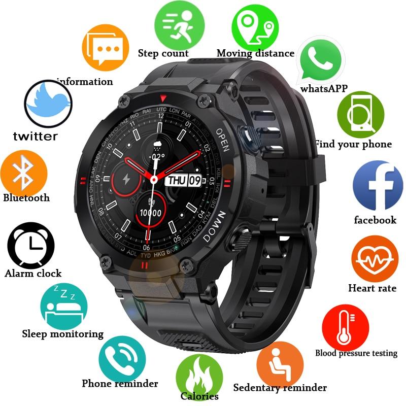 Новинка 2021, цифровые часы с Bluetooth для вызова для мужчин, сенсорные спортивные фитнес-часы на весь экран для активного отдыха, часы с пульсоме...