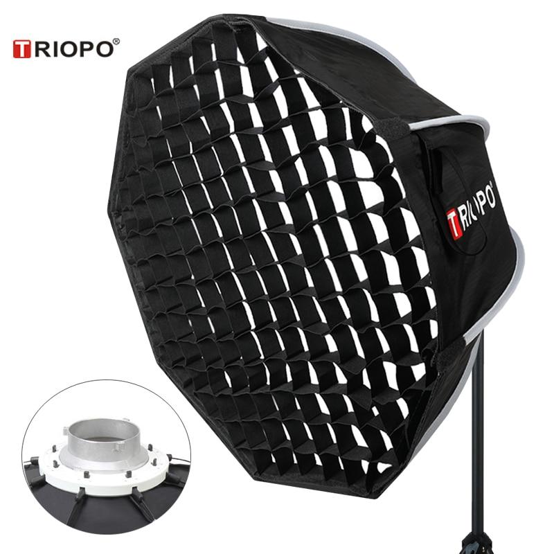 Портативный софтбокс Triopo 90 см с сотовой сеткой, восьмиугольный Зонт K90, уличный софтбокс для Godox Jinbei Strobe