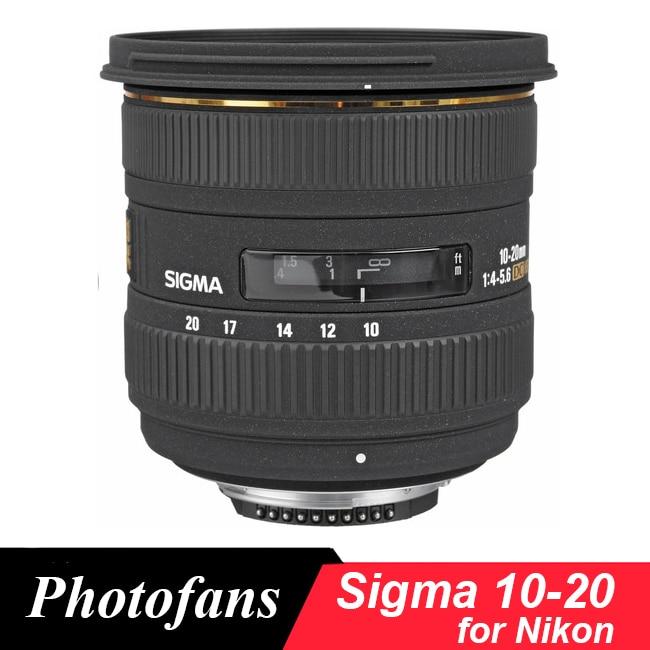 Широкоугольный Объектив Sigma 10-20 мм f/3,5 EX DC HSM для Nikon D3200 D3300 D3400 D5500 D5200 D5300 D5600 D90 D7100 D7200 D300 D500