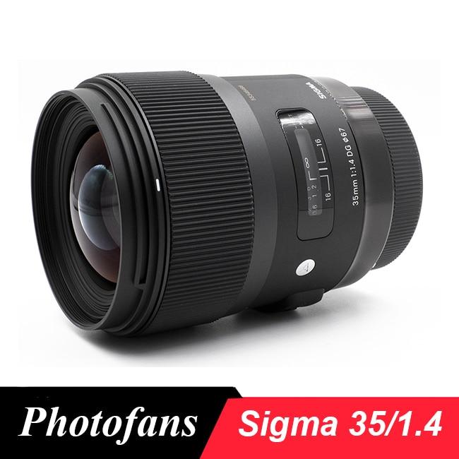 Sigma 35 мм F1.4 Art DG линза HSM для камеры Nikon Canon Sony