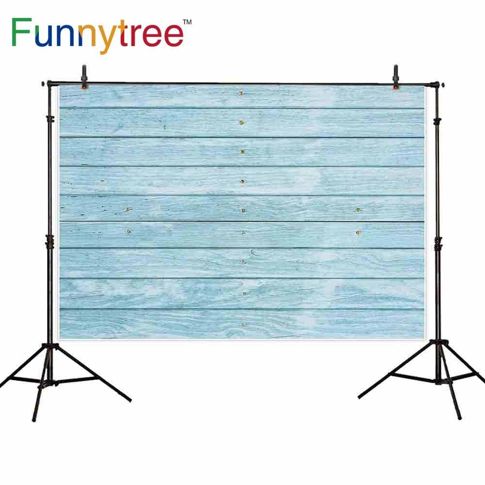 Задний фон Funnytree для фотостудии с синей деревянной текстурой винтажный Профессиональный фон для фотосъемки фотобудка для фотосессии prop