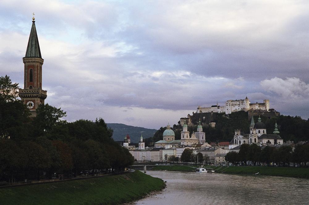 Фото река Зальцах в Зальцбурге