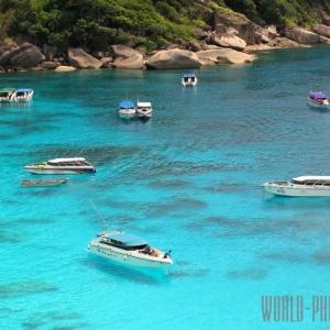 Симиланские острова в Тайланде в 80 км от Пхукета