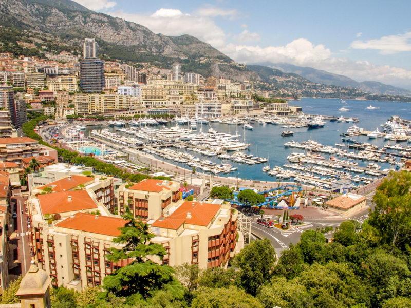Виды Монако - столица Монте Карло