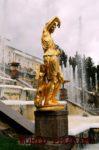 Фотография Большого каскада Петергофского Дворца.