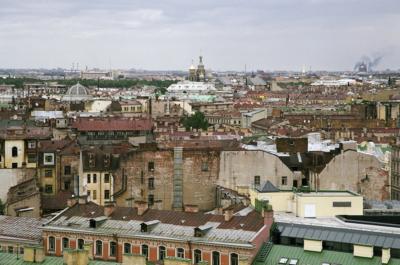 Фото Санкт-Петербурга сверху с Исакиевского собора